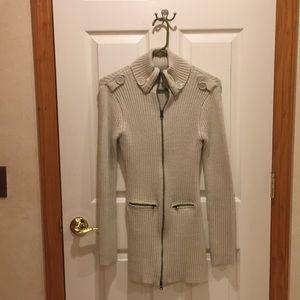 Sweater jacket dress